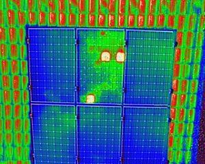 Thermogramm einer PV-Anlage